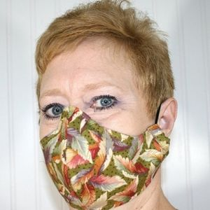 HANDMADE Cloth Fall Feathers Face Mask Shield